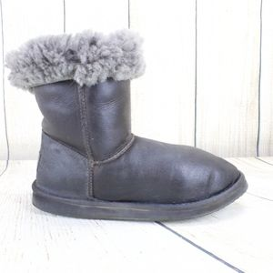 LL Bean Wicked Good Shearling Black Leather Boots